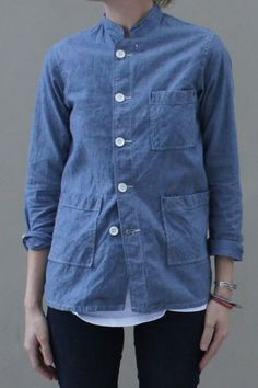 Wanted: Engineered Garments Dayton Shirt in L - Chambray SS14 ... engineered garments dayton shirt