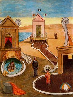 "artist-dechirico: "" The Mysterious Bath via Giorgio de Chirico Medium: oil, canvas"""
