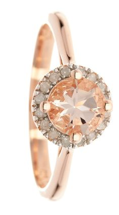 Beautiful, Rose Gold Diamond Halo Ring