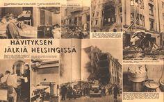 Air Raid Bombing of Helsinki by Soviets Suomen Kuvalehti December 1939 Iconic Photos, More Photos, Finnish Civil War, History Of Finland, Night Shadow, Something Old Something New, Air Raid, Fight For Us, Picture Postcards