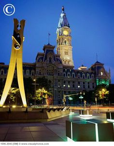 Clothespin City Hall, Philadelphia....why a clothespin? No one knows...it's art.