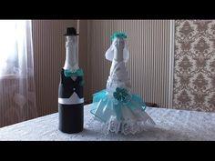 Свадебная бутылка-жених. Украшения для свадьбы - YouTube