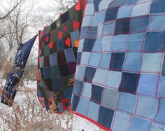 We love Crispina! Environmental Textile Artist blankets clothes by Crispinaffrench