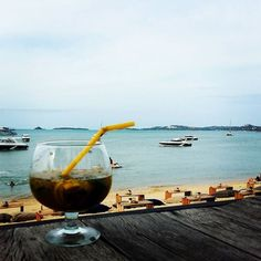 Pre-dinner cocktails on the beach :)