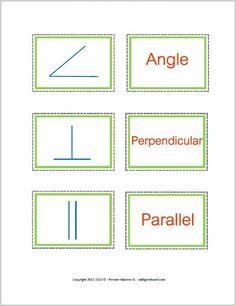 Common Geometry Symbols ~ FREE Printable