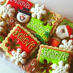 "Christmas ""Believe"" Cookies 