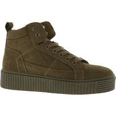 Musk Green Stitched Mid Tops - Trainers - Shoes - Women - TK Maxx