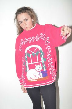 Twisted Envy Women/'s Ugly Christmas Reindeer Sweater T-Shirt