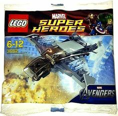 Lego Polybag- 30162 - Marvel Avengers quinjet - Brand New - Sealed pack Lego Marvel, Marvel Avengers, Lego Super Heroes, Lego Sets, Legos, Stocking Stuffers, Superhero, Toys, Lego Stuff