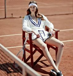 "Dreaming of Dior: ""Tennis Club"" Sona Matufkova for Mirror Magazine May 2015 Tennis Clubs, Le Tennis, Sport Editorial, Editorial Fashion, Tennis Fashion, Sport Fashion, Men Fashion, Fashion Trends, Sporty Girls"