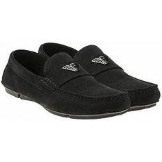 Driver Shoes - Black - Emporio Armani Slip-Ons