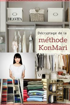 decryption the KonMari method: a revolutionary storage technique that does not cease to seduce us. Discover the golden rules to respect, several tips and useful tips as well as # ideas folding clothes! Wardrobe Organisation, Home Organisation, Closet Organization, Diy Wardrobe, Wardrobe Rack, Room Decor Bedroom, Diy Room Decor, Home Decor, Drawer Shelves Diy