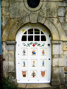 French artwork painted on this door in Porte Bretagne, France. doors of the world. travel. Europe. door.