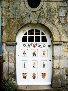 Door with paintings