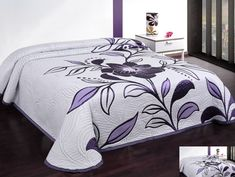 Biely obojstranný prehoz na postele s čiernymi kvetmi Bed Cover Design, Dressy Dresses, Bed Covers, Bed Sheets, Comforters, Furniture, English Language, Home Decor, Blankets