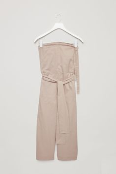 COS image 2 of Strapless jumpsuit in Sand