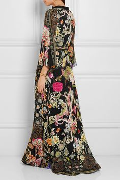 Etro | Embellished printed silk-chiffon gown | NET-A-PORTER.COM