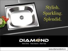 Switch to a modern way of living! Switch to #DiamondSink! Explore the complete range @ www.diamondsink.in #SteelSink #SteelKitchenSink #Sink #Kitchen #KitchenSinks #StylishSinks