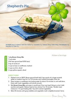 Celebrate St. Patrick's Day with a Medifast-approved shepherd's pie!  #Medifast #recipe #healthy