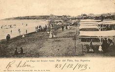 """Playa Bristol, año 1900, postal de 1903 Bristol, Bs As, Paris Skyline, Vintage World Maps, Journal, Photography, Travel, World, Buenos Aires"