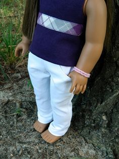 American Girl Doll Clothes  White Stretch Denim by 18Boutique, $15.00