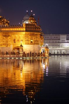 "awaara-pagal-deewani: "" Harmandir Sahib - The Golden Temple Amritsar, India 2014 "" Golden Temple Wallpaper, Dark Wallpaper, Places Around The World, Around The Worlds, Guru Nanak Ji, Harmandir Sahib, Sri Guru Granth Sahib, Golden Temple Amritsar, Religious Photos"