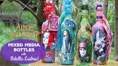 HOW TO: Mixed Media Alice Bottles #makeyourmark #decoart #madeformakers