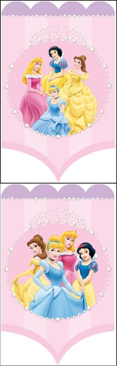 Disney Princess Set of 2 Wall Art Tiara Banners - Wall Sticker Outlet