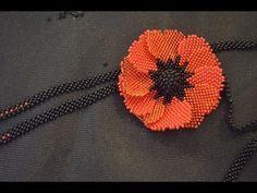 Цветок из бисера,  мозаичное плетение, мастер класс. - YouTube