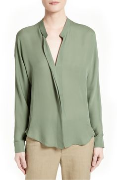 Silk Blouse in Sage by Vince