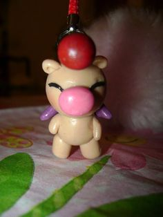 Items similar to Moogle Charm on Etsy Boring Day, Clay Ideas, Kingdom Hearts, Clay Creations, How To Make Beads, Clay Art, Nerdy, Polymer Clay, Video Games