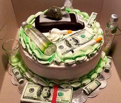 23 ideas birthday cake for boyfriend Weed Birthday Cake, 21st Birthday Cake For Guys, Money Birthday Cake, 22nd Birthday Cakes, Birthday Cake For Boyfriend, Money Cake, Birthday Cakes For Men, Happy Birthday, Boyfriend Cake