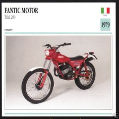 1979-Fantic-Motor-Trial-200-Type-350-160cc-Italy-Motorcycle-Photo-Spec-Card