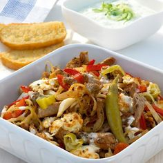 Gyros casserole with zaziki - tolle rezepte - Healthy Eating Tips, Healthy Nutrition, Healthy Recipes, Clean Eating, Plats Weight Watchers, Weight Watchers Meals, Eat Smart, Greek Recipes, Food Porn