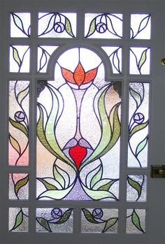 Edwardian Stained glass Door