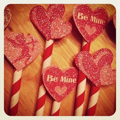 Valentine's cupcake toppers - so easy!