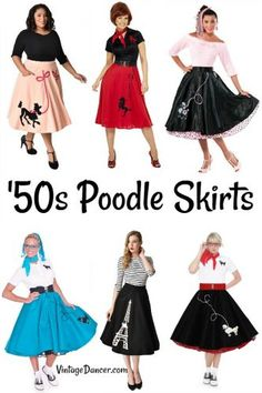 50s poodle skirts and poodle skirt costumes at  vintagedancer Baile 3c980a7cec5
