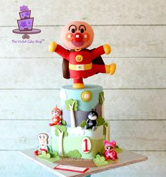 Gravity-Defying ANPANMAN ANIME Character Cake - Cake by Violet - The Violet Cake Shop