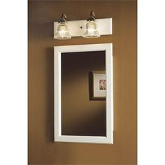 Broan 1370WH Dunhill - Single-Door Recessed Cabinet White (Wall ...