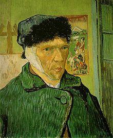 Vincent van Gogh, Autoritratto con orecchio bendato,1889, Courtauld Institute Galleries, Londra