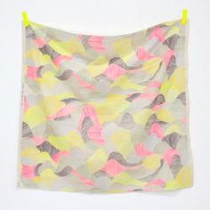 Nani Iro 2014 - Mountain Views - Neons. 1 yard. Used for swaddle blanket.
