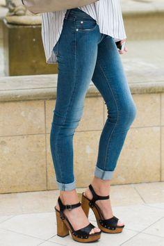 Stand Tall Medium Wash Skinny Jeans at reddressboutique.com