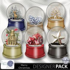 Merry Christmas Snow Globes by PattyB Scraps!  http://www.mymemories.com/store/display_product_page?id=PBPS-EP-1410-7251