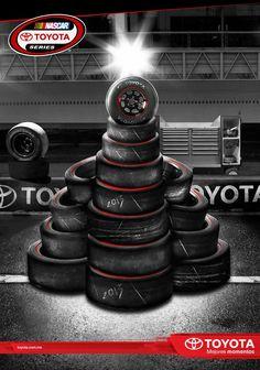 Toyota Racing Navidad 2012 Nascar, Toyota, Gym Equipment, Racing, Ads, Sports, Xmas, Running, Hs Sports