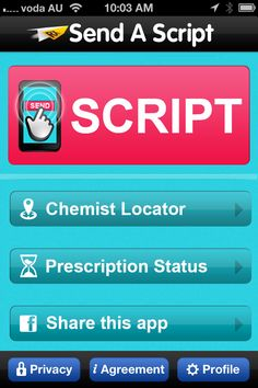 Send a Script is a mobile app giving an independent link between the G.P, the Consumer, and any Australian Pharmacy. Sending prescriptions using your iPhone, iPod or iPad will save you TIME, offer you CONVENIENCE and give you CHOICE.