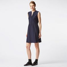WOMEN Rayon Stand Sleeveless Dress