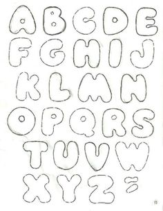 Felt lettering template Felt Diy, Felt Crafts, Diy And Crafts, Applique Patterns, Craft Patterns, Couture Bb, Felt Letters, Bubble Letters, Busy Book