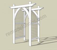 Vegetable Garden Arbor DIY Plans -- archway trellis/gate for entry.