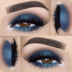 »@sugarnaturelbeauty eyeshadows in St. Tropez and Cobalt »@sigmabeauty Nightlife Palette »@pinkygoatlashes in Gharam…