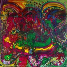 Artwork >> Jürgen Grafe >> RAINBOW MEN #artworks, #masterpiece, #oiloncanvas, #bright, #rainbow, #men